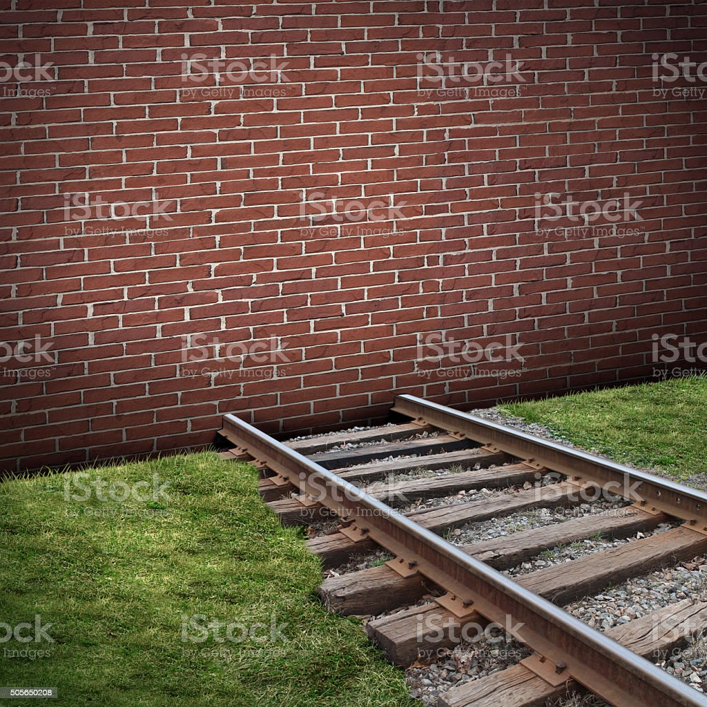Road Block Concept stock photo