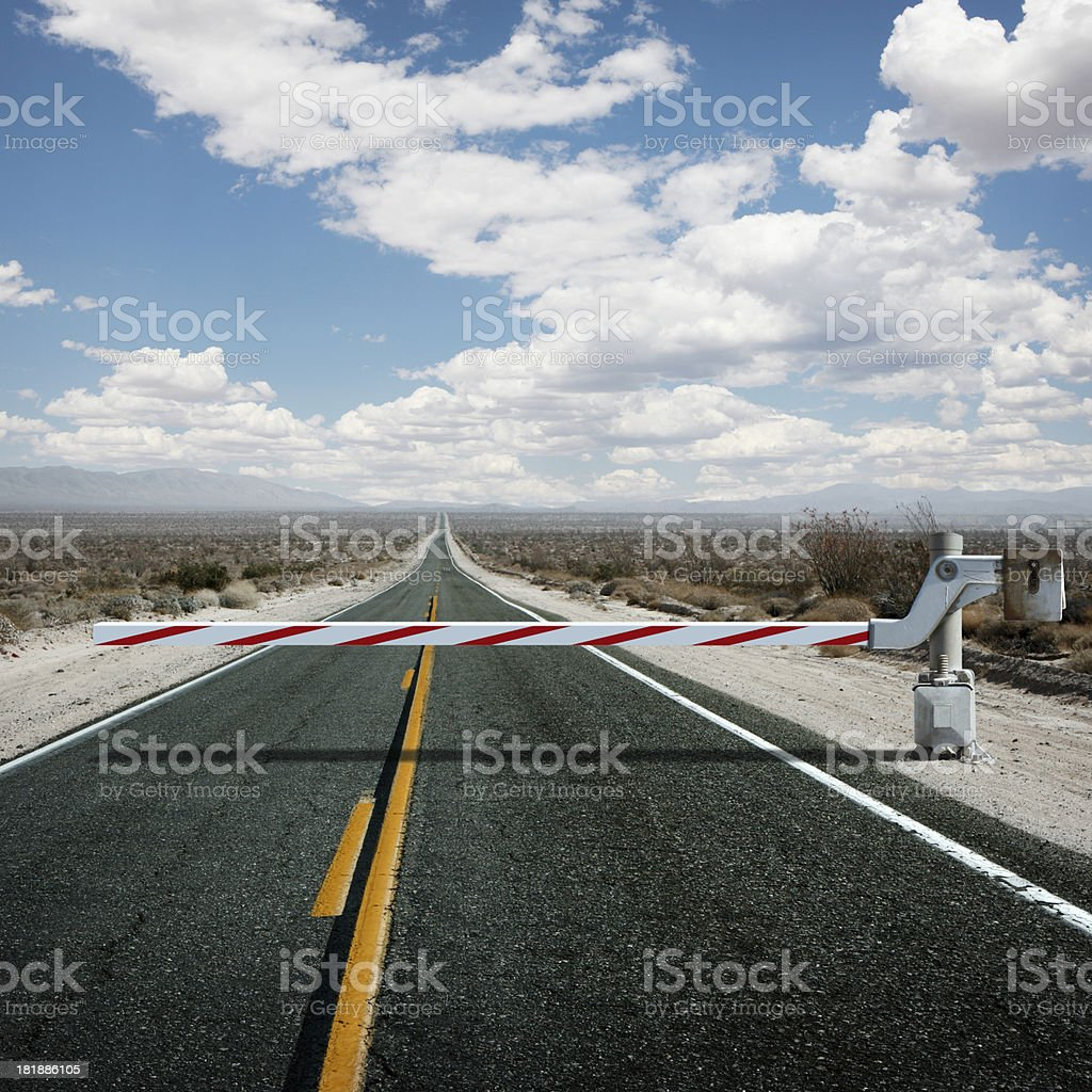 Road Block royalty-free stock photo