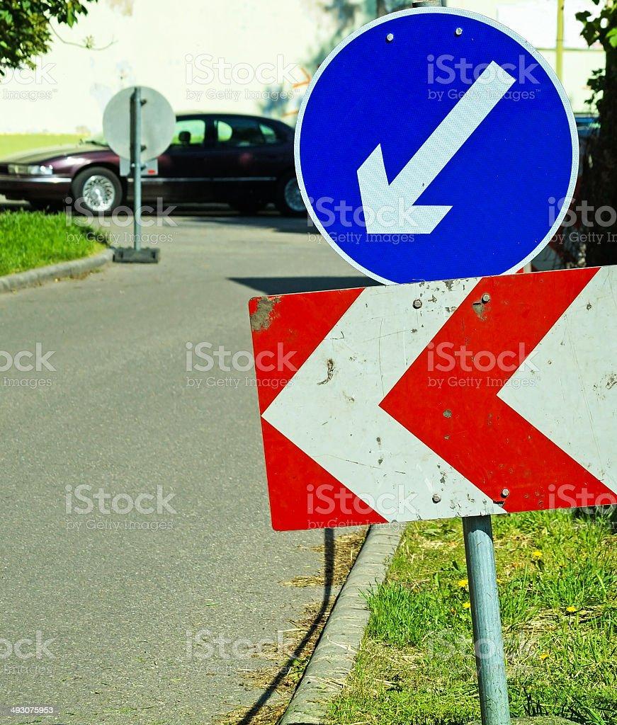Road block royalty-free stock photo