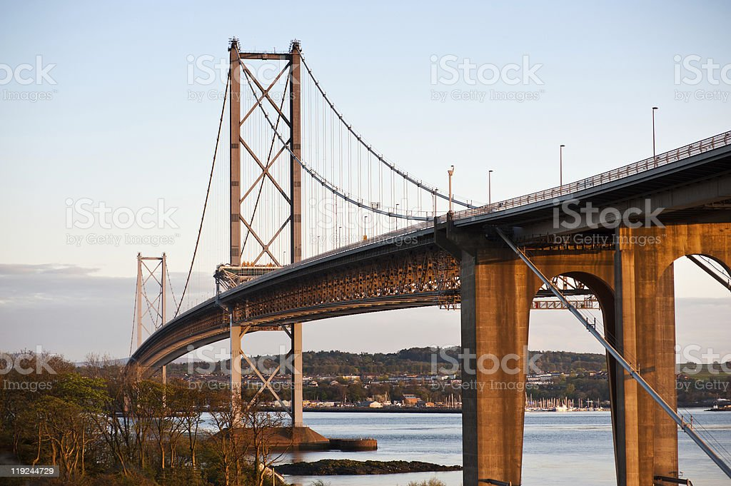 road bridge across the Firth of Forth in Scotland stock photo