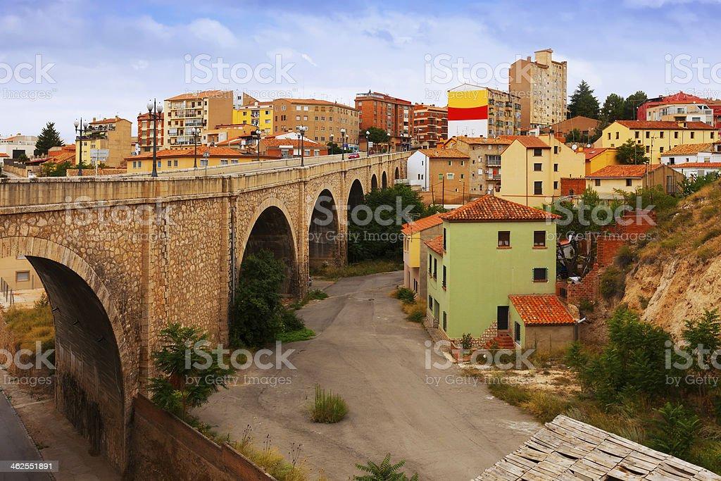 Road bridge in Teruel stock photo
