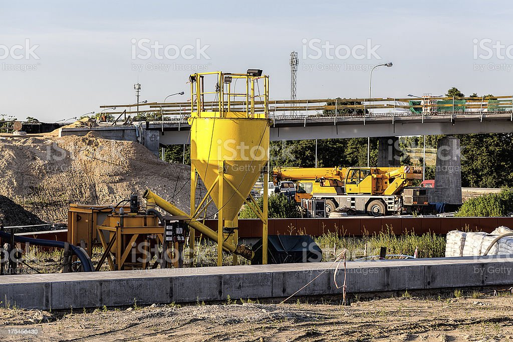 Road building royalty-free stock photo