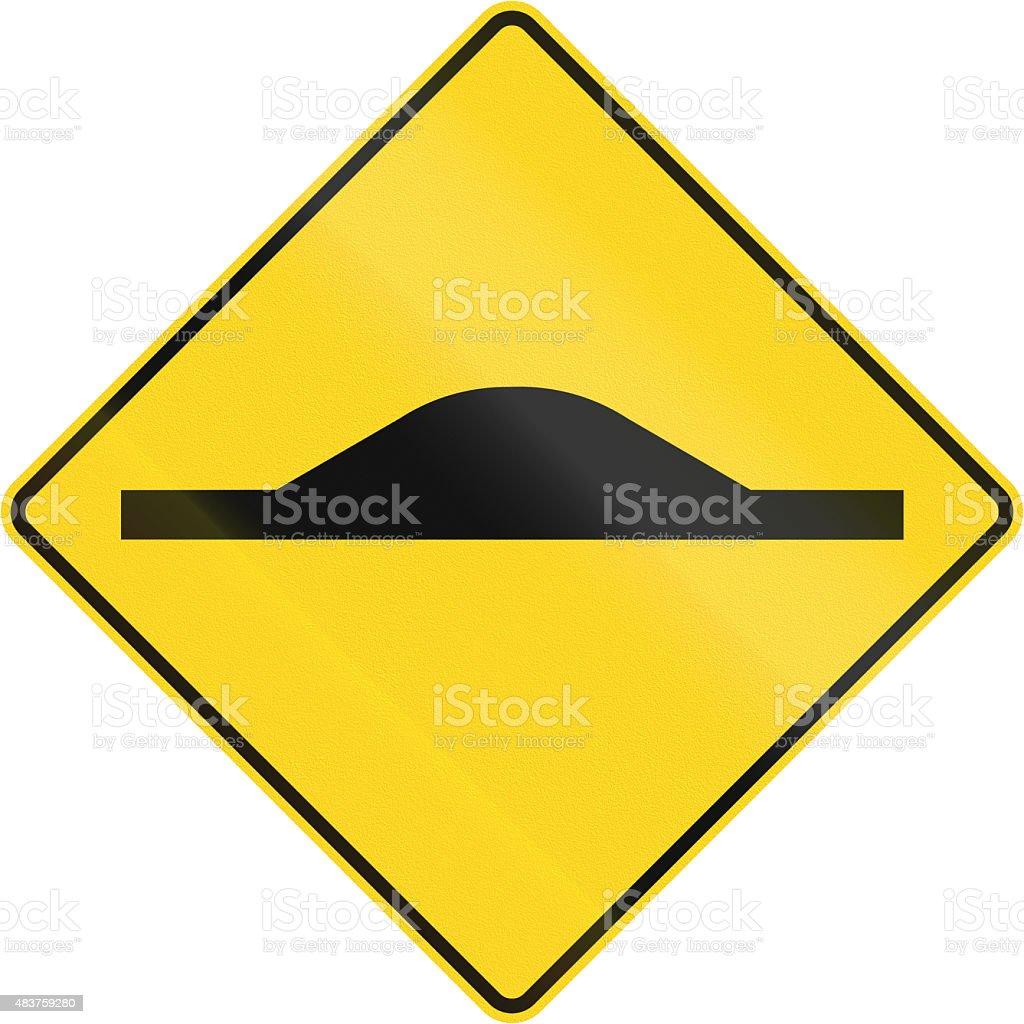 Road Bump In Canada stock photo
