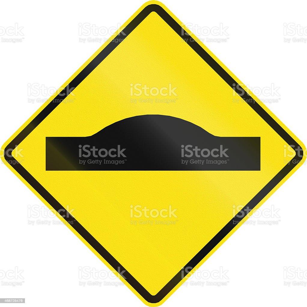 Road Bump In Chile stock photo