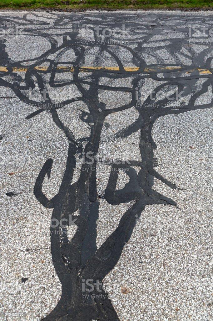 Road calligraphy stock photo