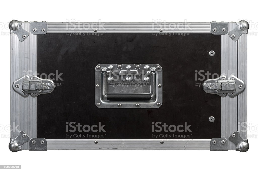 Road case or flight case background stock photo