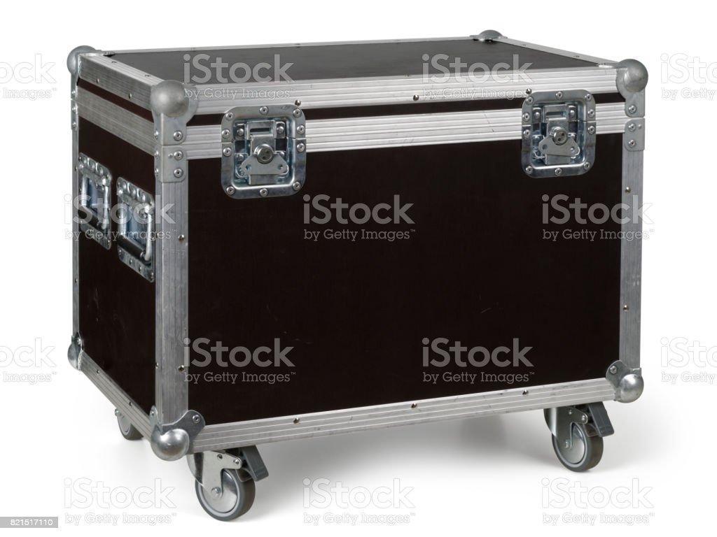 Road case or flight case on wheels stock photo