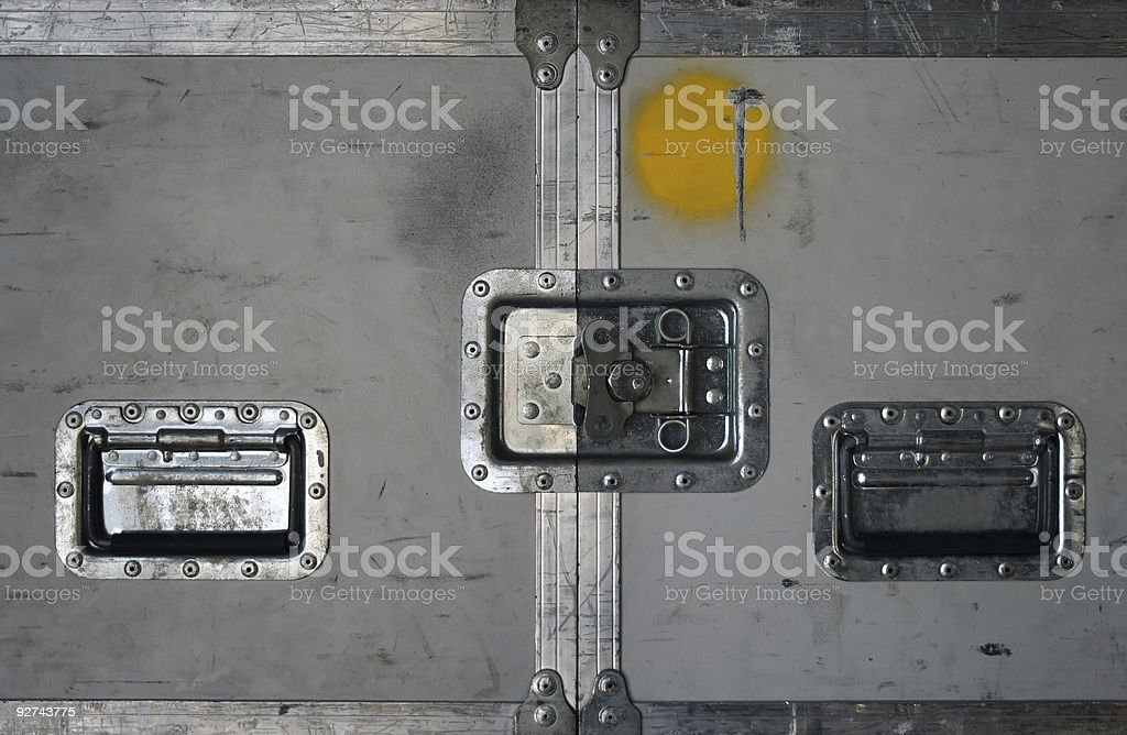 Road case with metal latches stock photo
