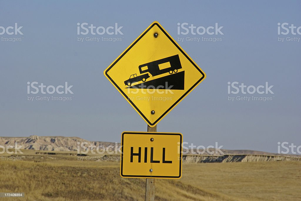 Road Caution Sign royalty-free stock photo