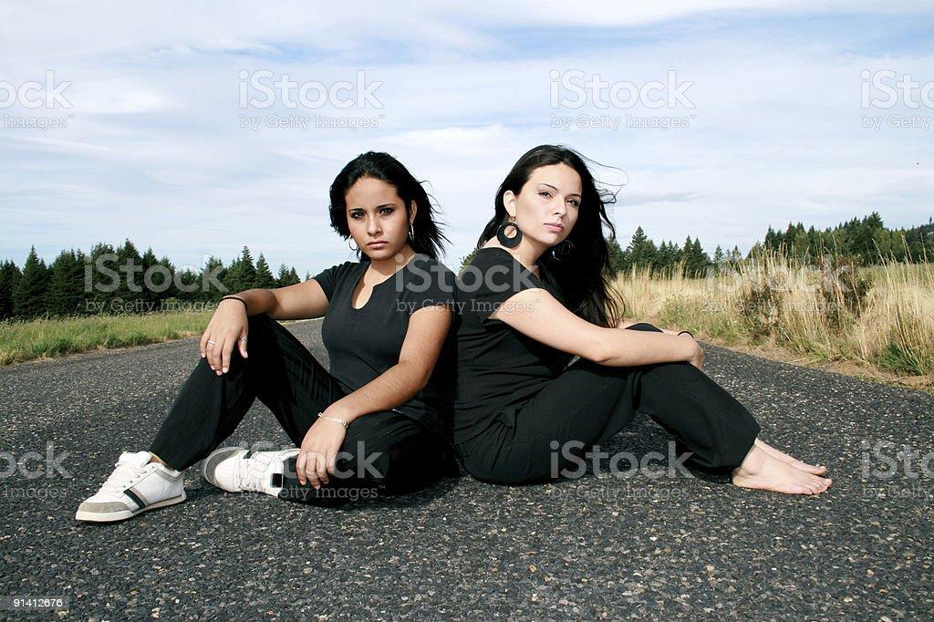 Road Chics royalty-free stock photo