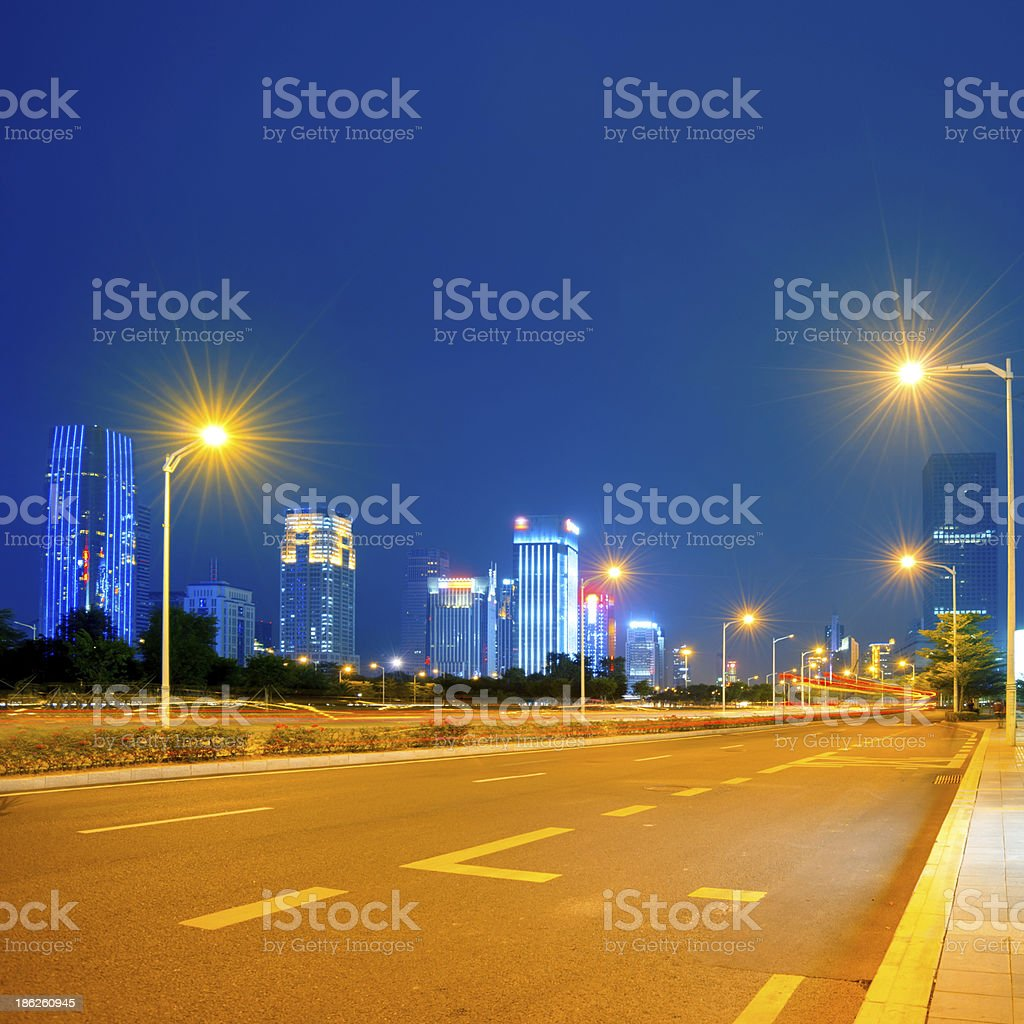 road city stock photo