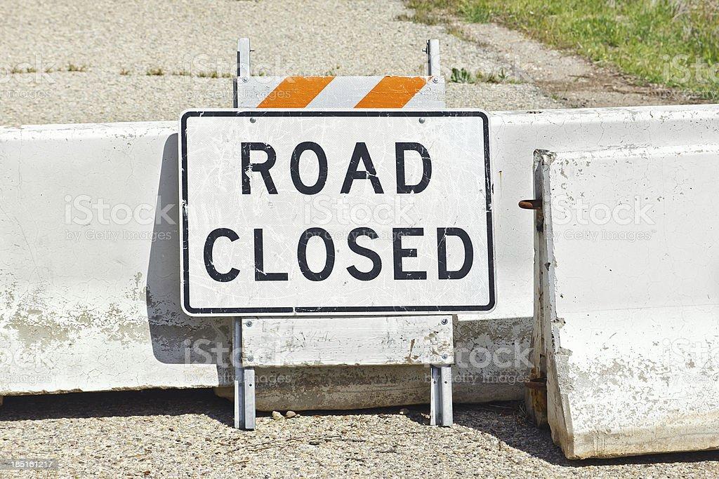 Road Close royalty-free stock photo