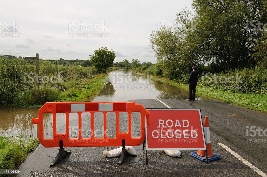 Road Closed Horizontal royalty-free stock photo