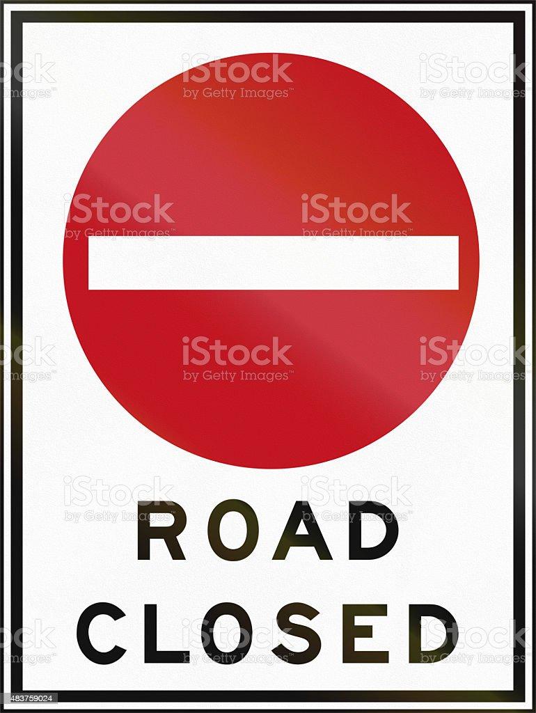 Road Closed In Canada stock photo