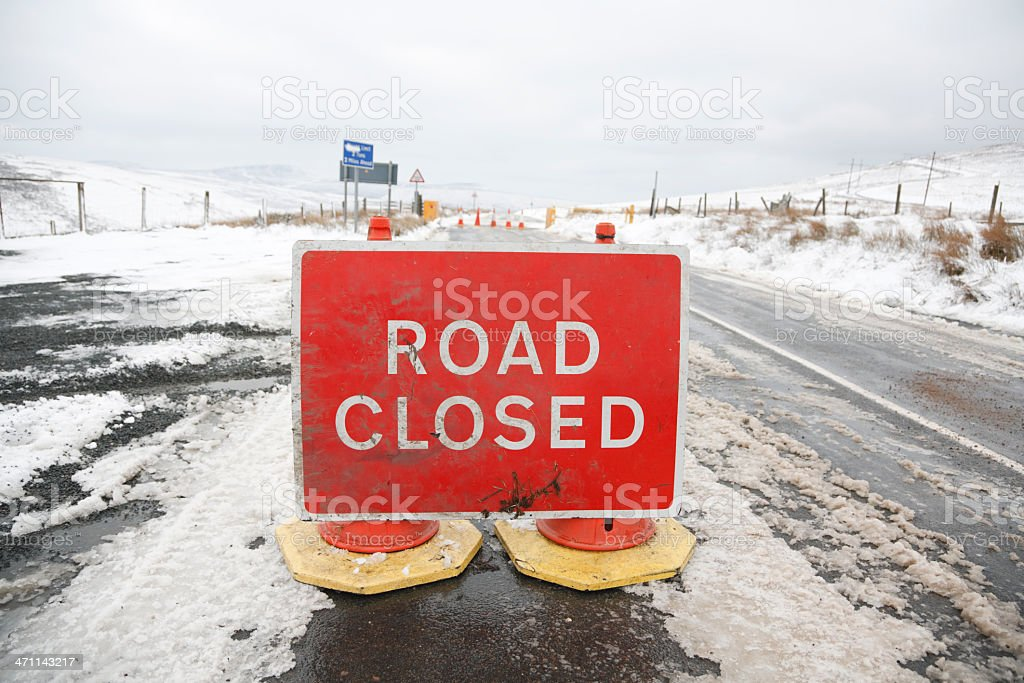 road closed (bad weather) royalty-free stock photo