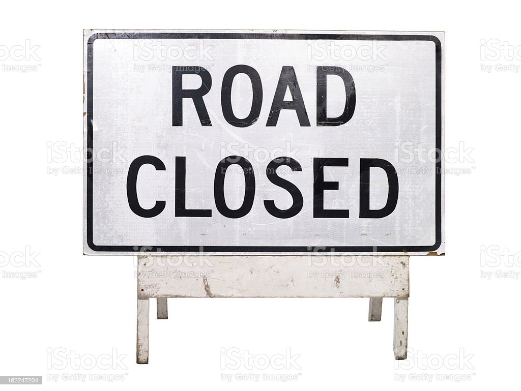 Road Closed Traffic sign stock photo