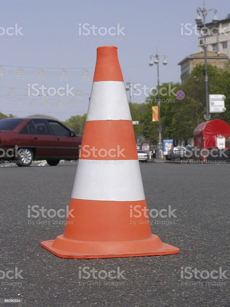 Road cone royalty-free stock photo