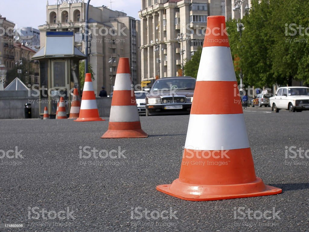 Road cones royalty-free stock photo