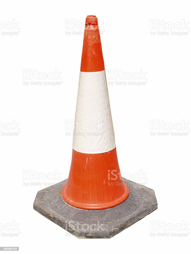 Road construction cone royalty-free stock photo