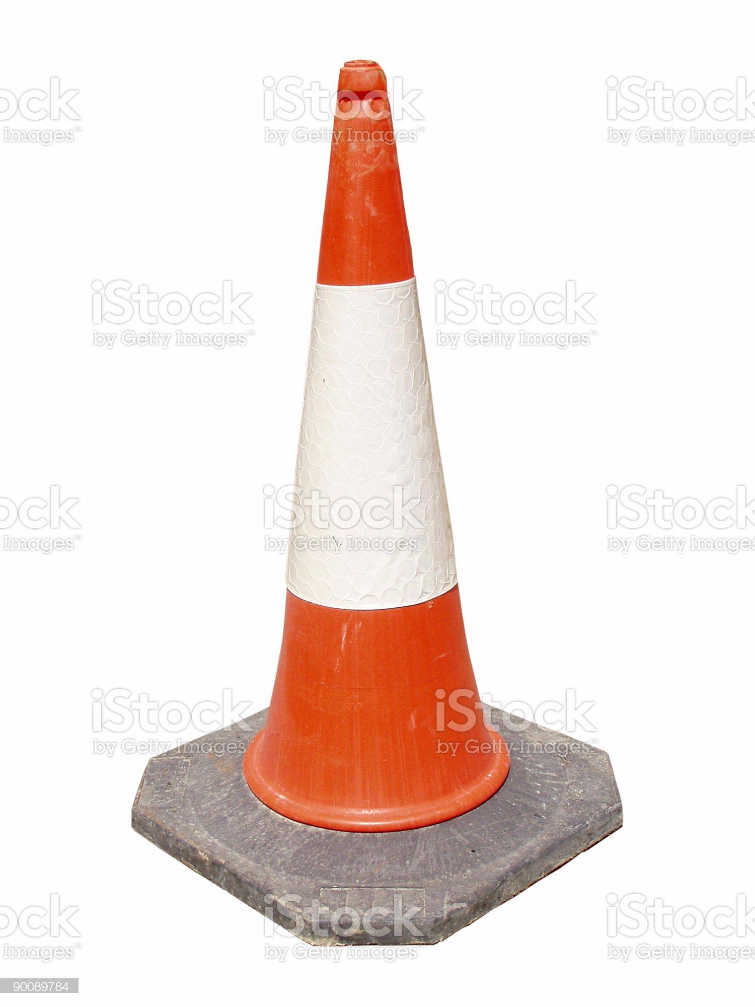 Road construction cone royalty-free stock photo