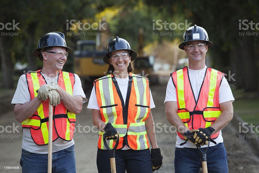 Road Construction Crew stock photo