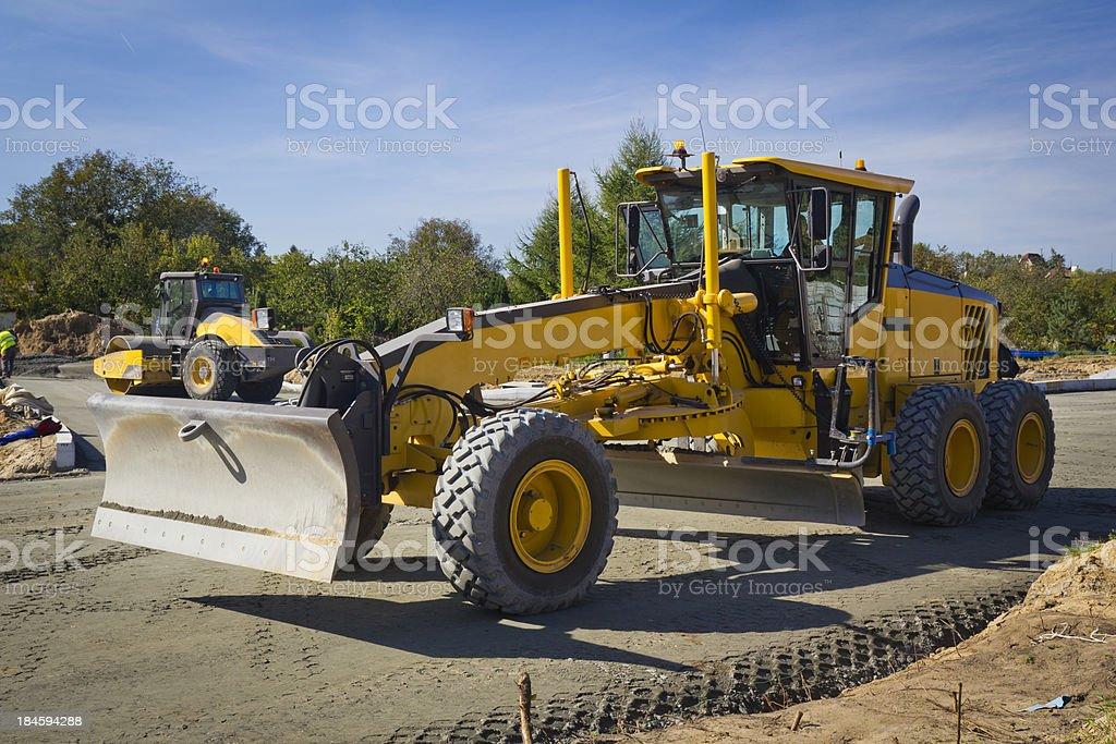 Road construction equipment royalty-free stock photo