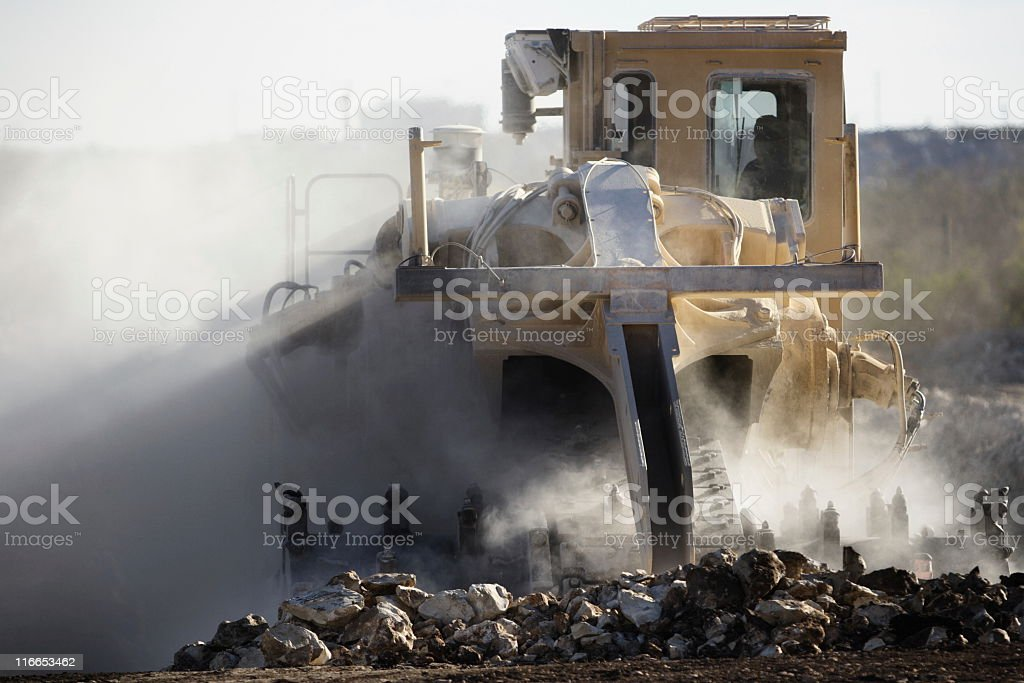 Road Construction Excavation Bulldozer Grader stock photo