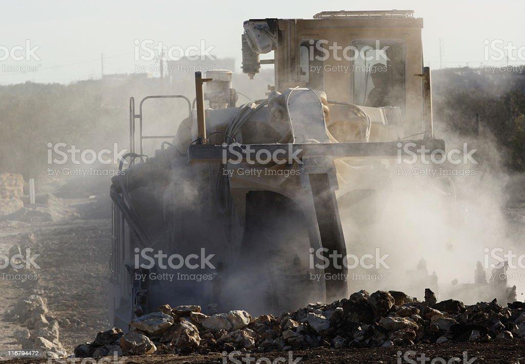 Road Construction Excavation Bulldozer Grader royalty-free stock photo