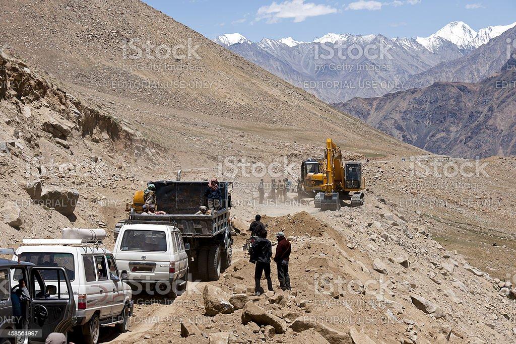 Road Construction in Ladakh India royalty-free stock photo