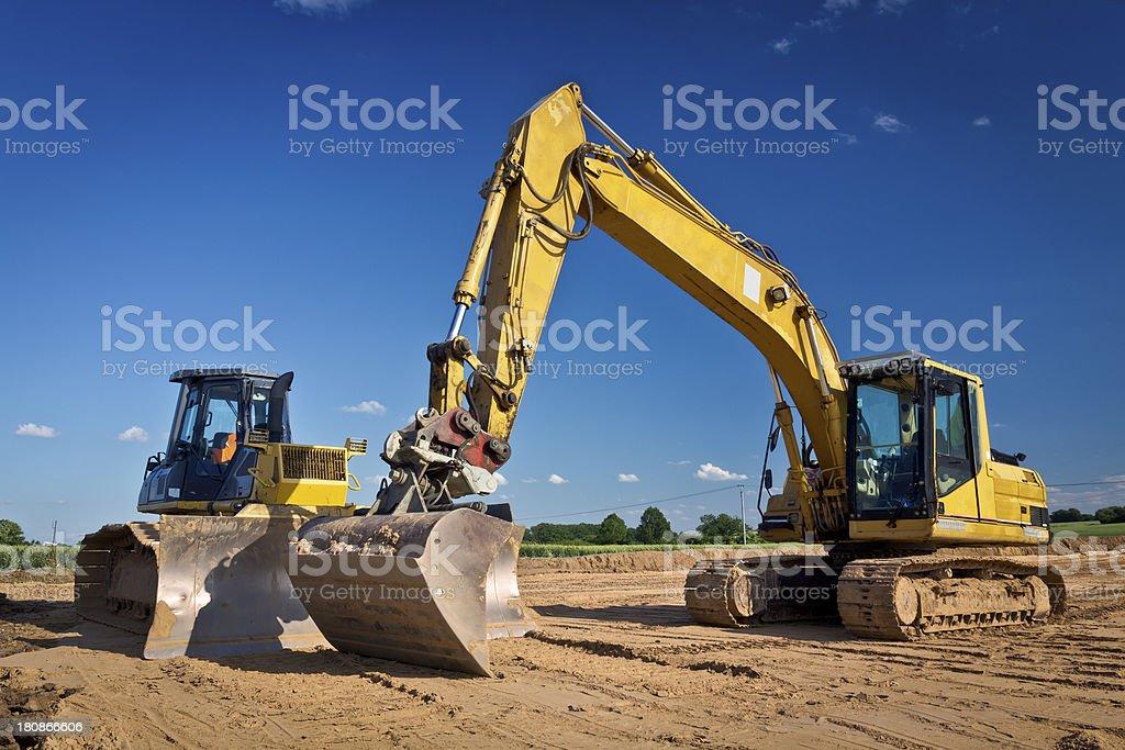 Road construction Machinery royalty-free stock photo