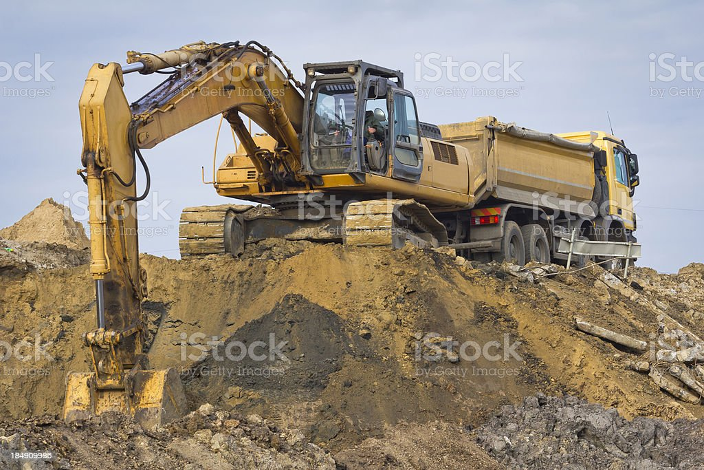 Road construction Machinery royalty-free stock photo
