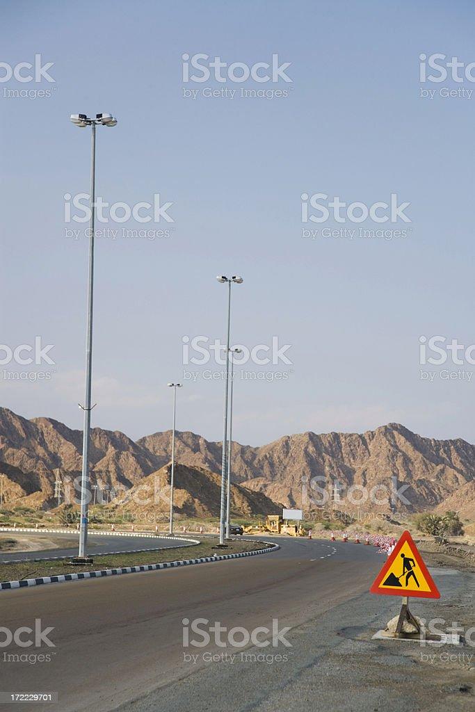 road construction royalty-free stock photo