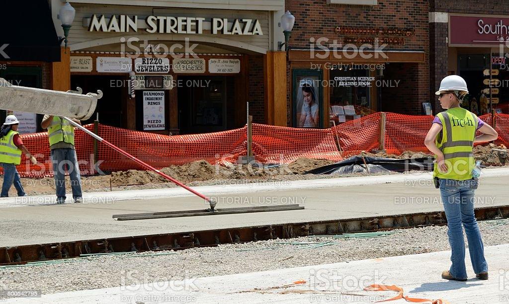 Road Construction stock photo