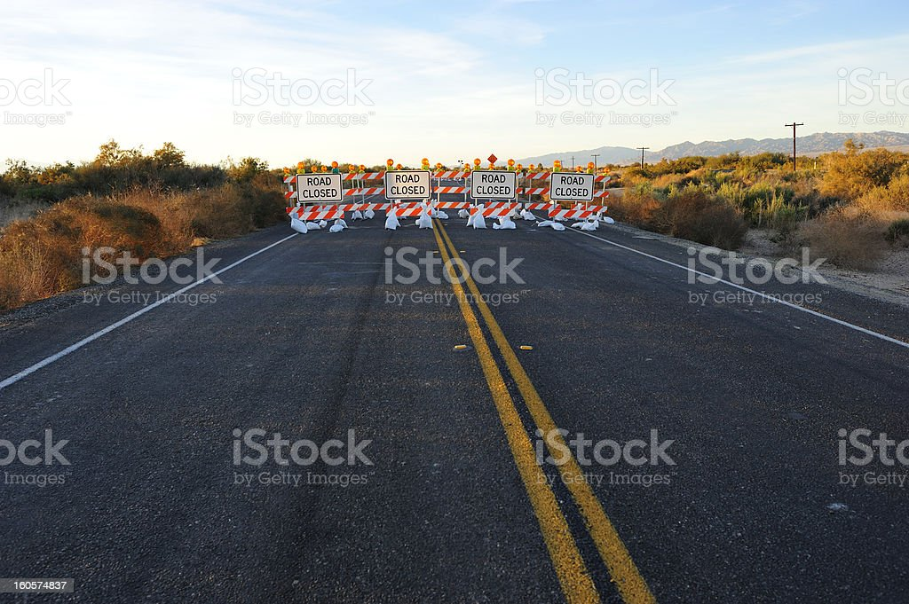 Road Construction Signs stock photo