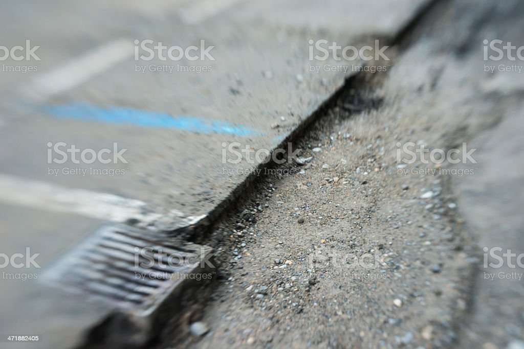 road construction site in Switzerland royalty-free stock photo