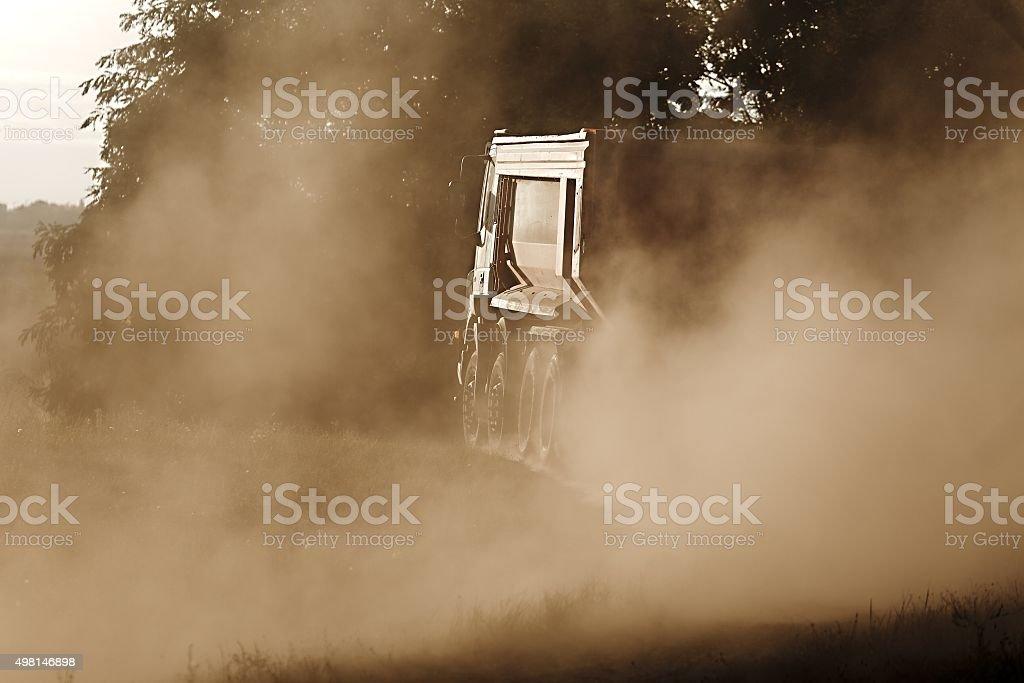 Road construction truck stock photo