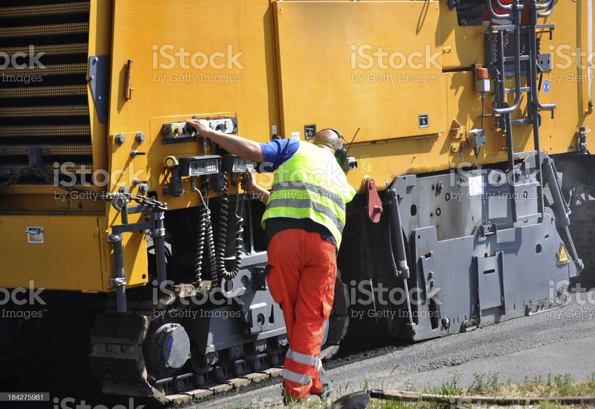 road construction vehicle royalty-free stock photo