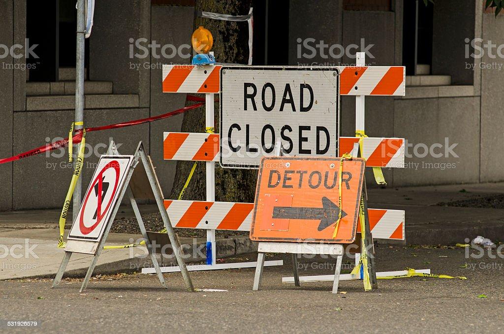 Road Control stock photo
