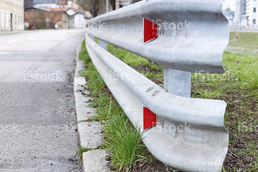 Road crash barrier royalty-free stock photo