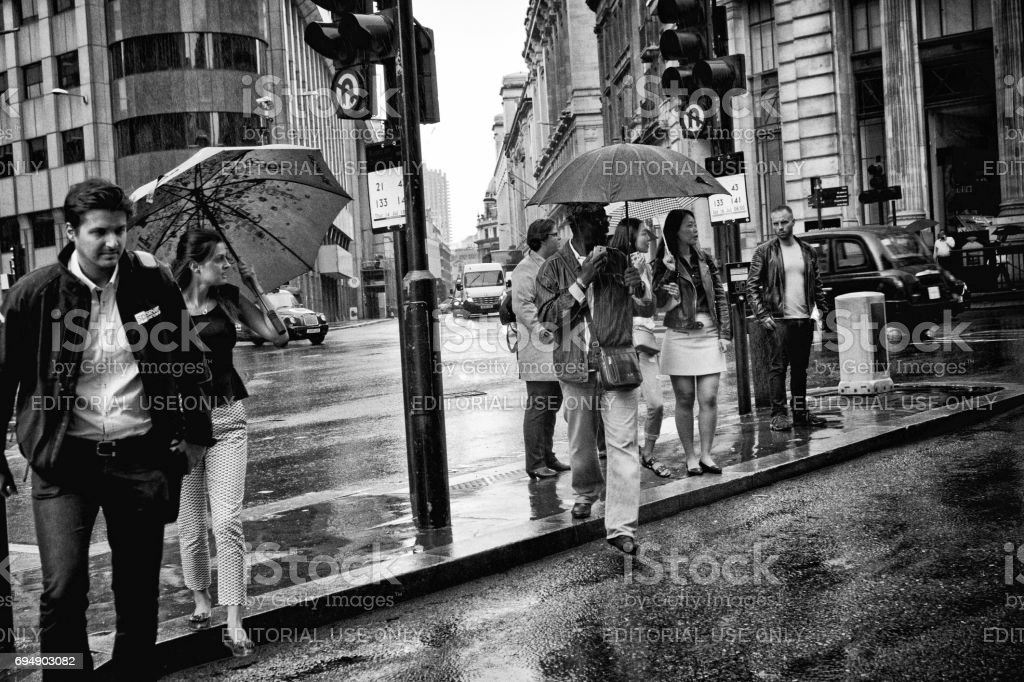 Road crossing, London stock photo