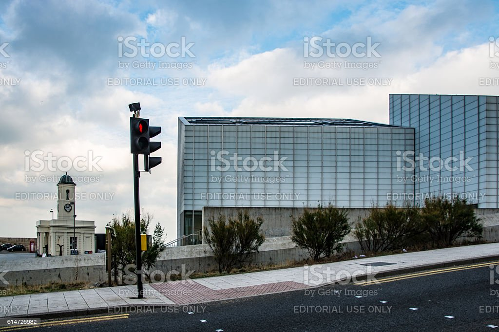 Road Crossing Turner Contemporary Art Gallery Margate stock photo