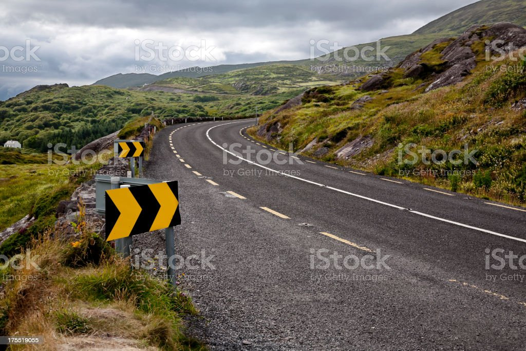 Road Curve in the Mountains stock photo