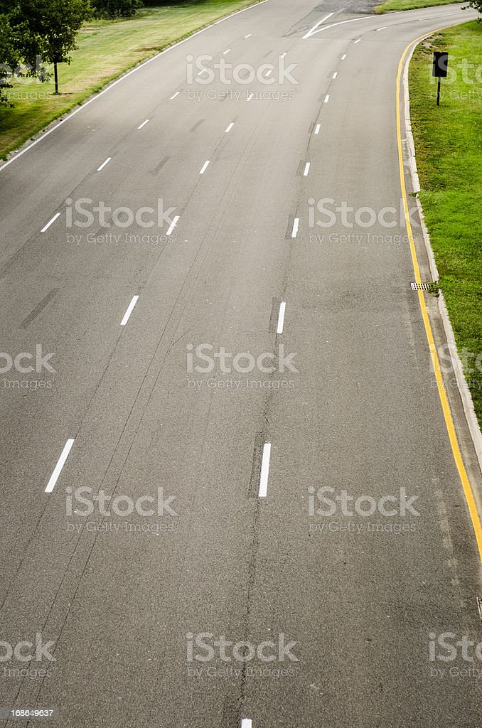 Road curve royalty-free stock photo