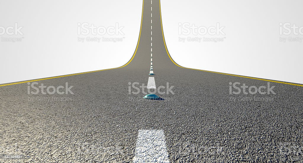 Road Curved Upward stock photo