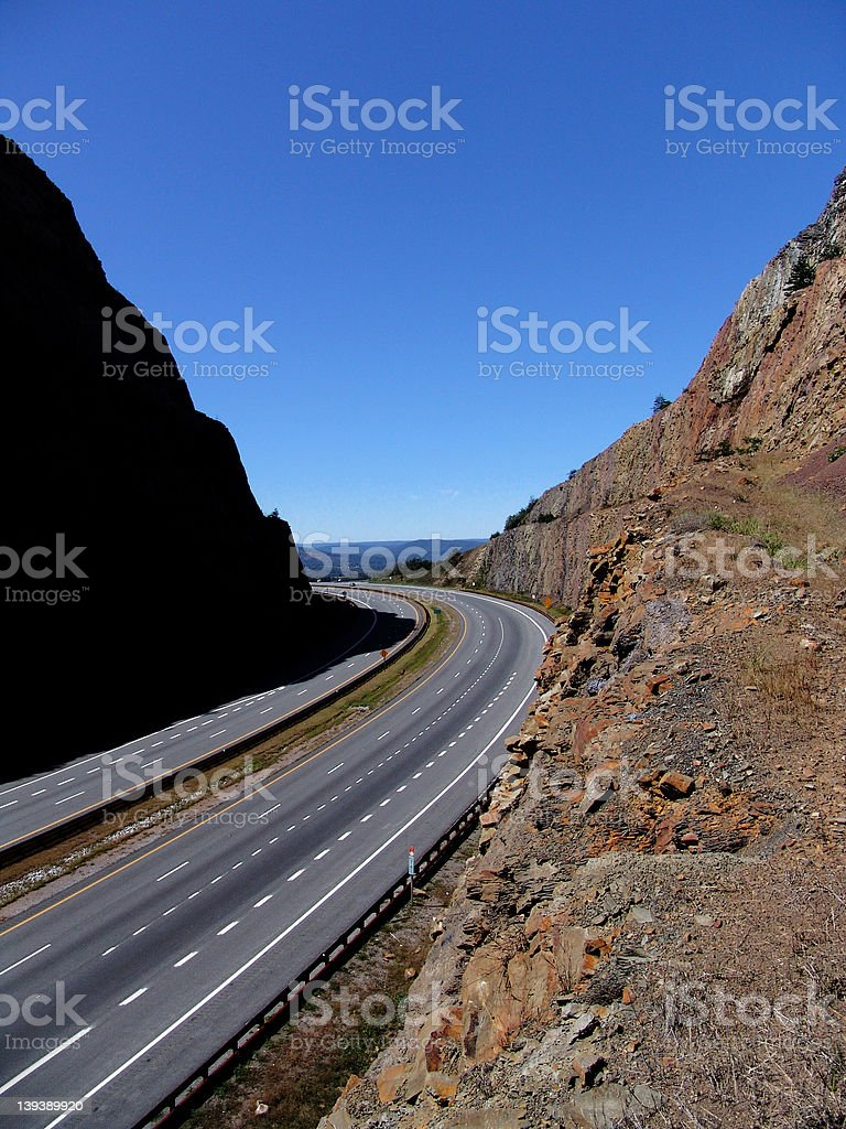 Road Cut stock photo