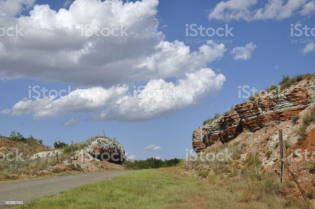 Road Cut royalty-free stock photo