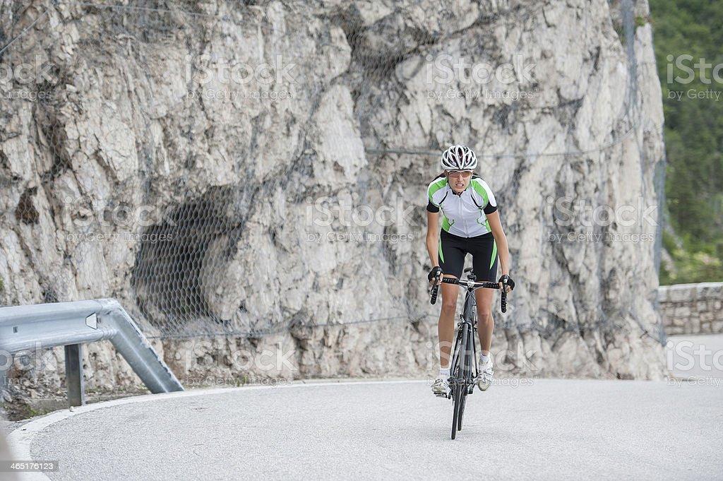 road cycling woman stock photo