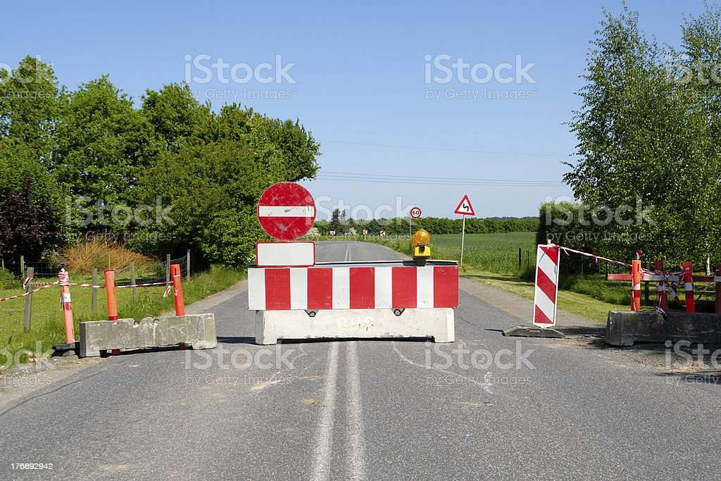 Road dead end royalty-free stock photo