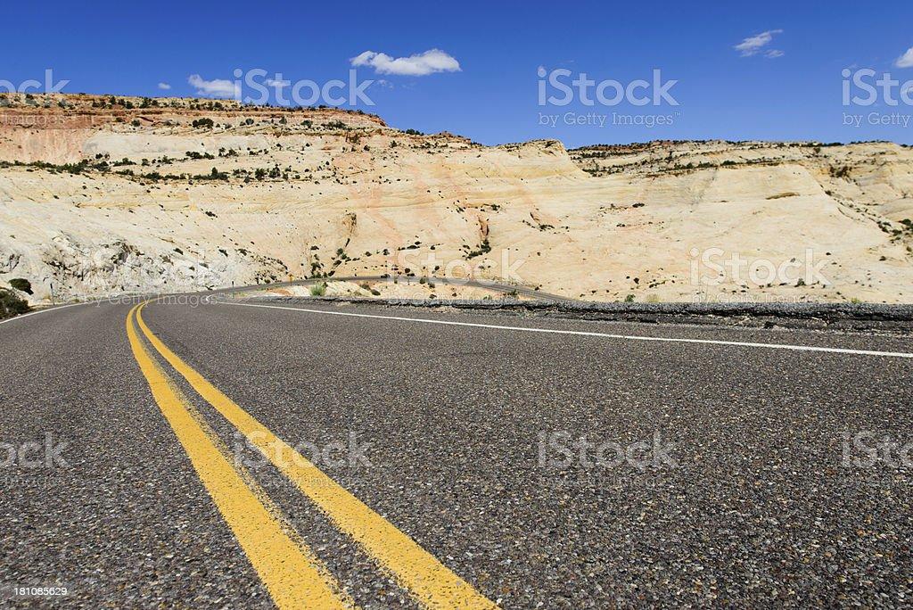 Road - Desert Mountain, Horizontal royalty-free stock photo