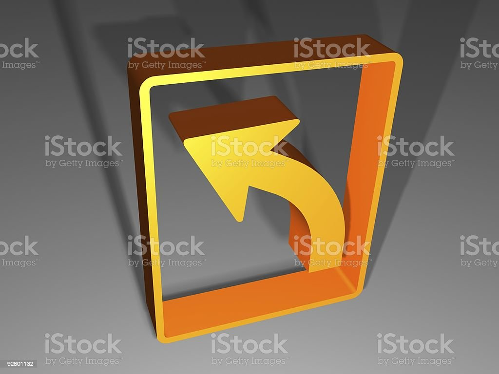 Road Direction sign 3d royalty-free stock photo